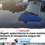 Autocisterna cade in mare al porto, tentava di rubare l'acqua