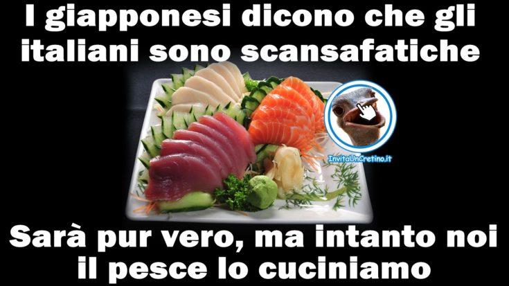giapponesi italiani battuta divertente sul pesce
