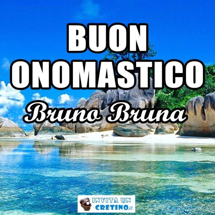 auguri buon onomastico Bruno Bruna