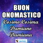 Buon Onomastico Cosima e Damiano Immagini 26 settembre 2020