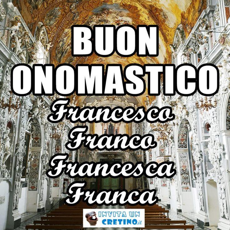 auguri buon onomastico francesco francesca franco franca