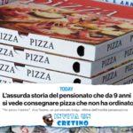Pensionato perseguitato per 9 anni dalla pizza, ci perde il sonno