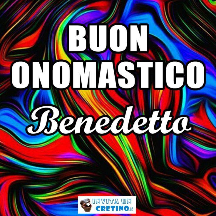 buon onomastico Benedetto