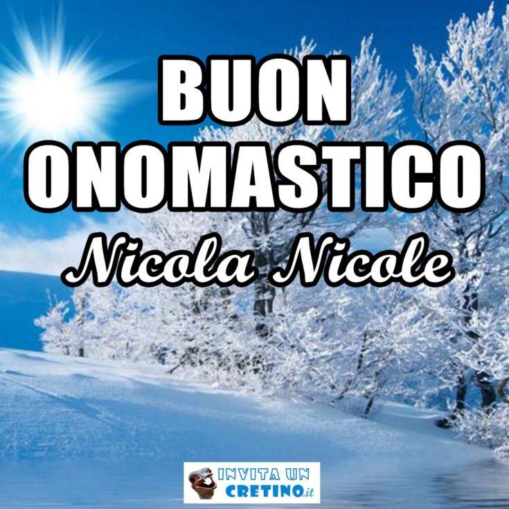buon onomastico nicola nicole 6 dicembre