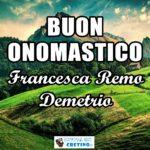 Buon Onomastico Francesca Remo Demetrio 22 dicembre 2020 Immagini