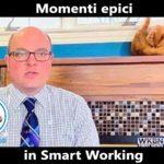 Momenti epici in Smart Working, il gatto del giornalista - Foto divertenti