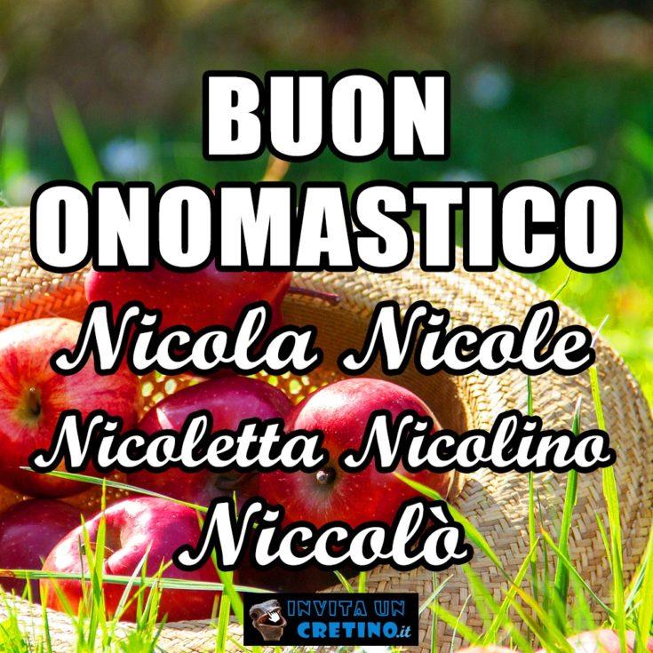 buon onomastico nicola nicole nicoletta nicolino niccolo 10 settembre 2020