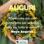 Auguri 8 marzo alle donne immagine con frase significativa, buona festa della donna