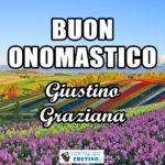 Buon Onomastico Graziana Giustino 1 giugno Immagini gratis