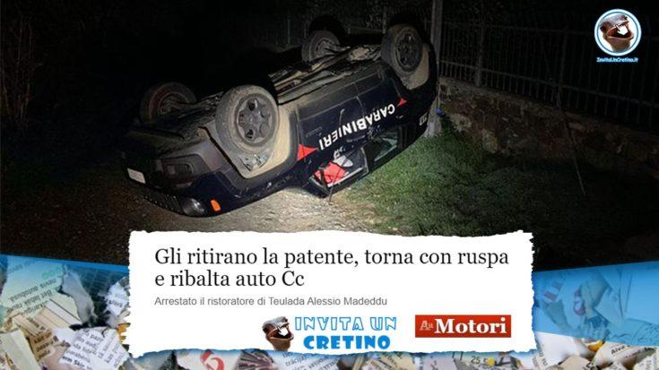 dopo ritiro della patente ribalta auto dei carabinieri